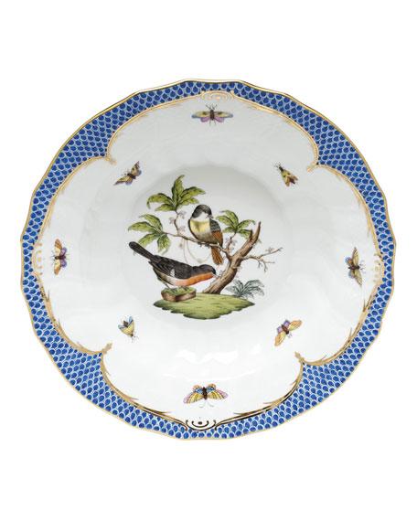 Herend Rothschild Blue Motif 03 Rim Soup Bowl