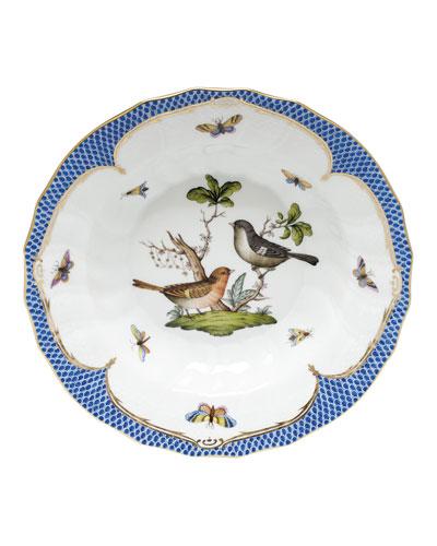 Rothschild Blue Motif 05 Rim Soup Bowl