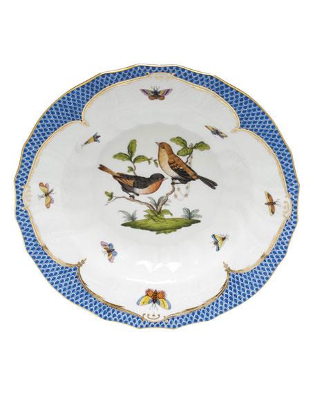 Herend Rothschild Blue Motif 09 Rim Soup Bowl