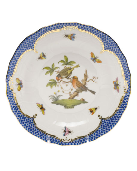 Herend Rothschild Blue Motif 10 Dessert Plate