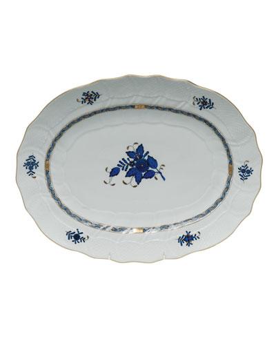 Chinese Bouquet Black Sapphire Platter