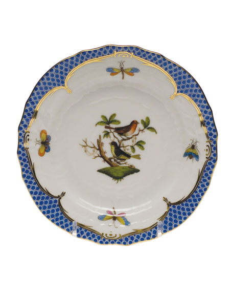 Herend Rothschild Bird Blue Motif 3 Bread & Butter Plate