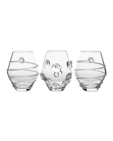 Juliska Assorted Clear Mini Vases, Set of 3