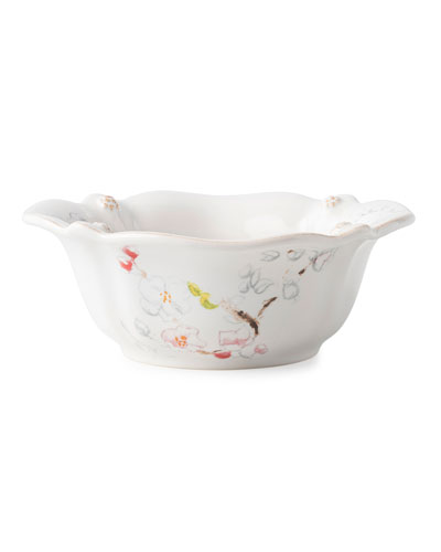 Berry Thread Floral Sketch Cherry Blossom Cereal/Ice Cream Bowl