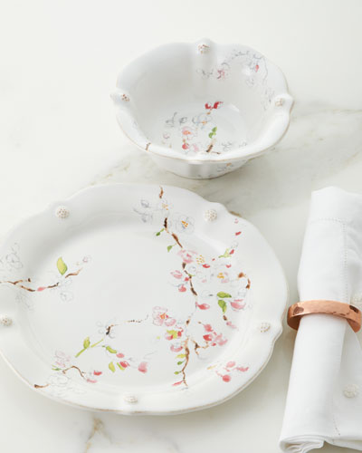 Berry & Thread Floral Sketch Cherry Blossom 4-Piece Place Setting