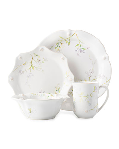 Berry Thread Floral Sketch Jasmine 4-Piece Place Setting