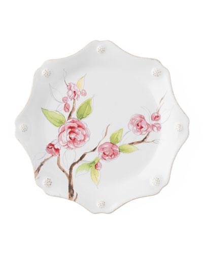 Berry Thread Floral Sketch Camellia Dessert/Salad Plate