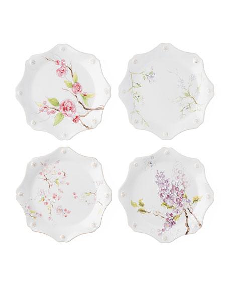 Juliska Berry & Thread Floral Sketch Dessert Plates, Set of 4