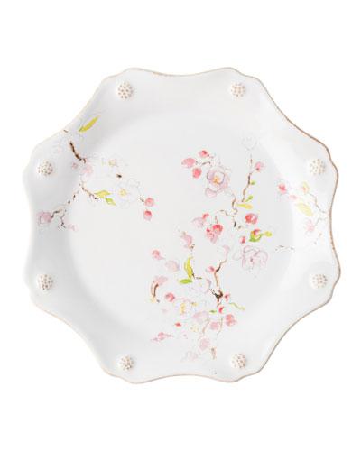 Berry Thread Floral Sketch Cherry Blossom Dessert/Salad Plate
