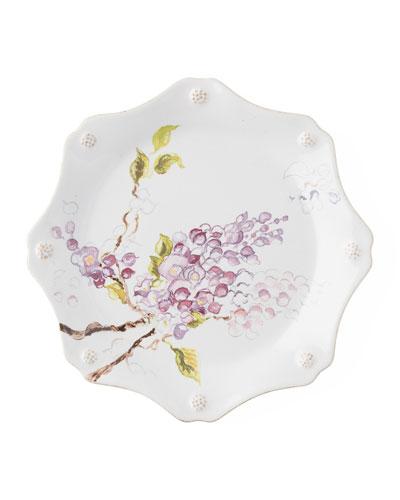 Berry Thread Floral Sketch Wysteria Dessert/Salad Plate