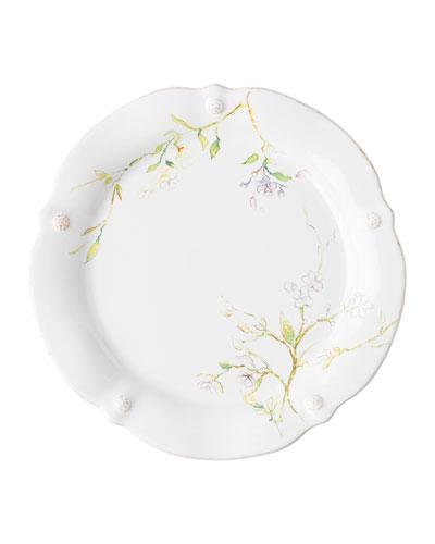 Berry Thread Floral Sketch Jasmine Dinner Plate