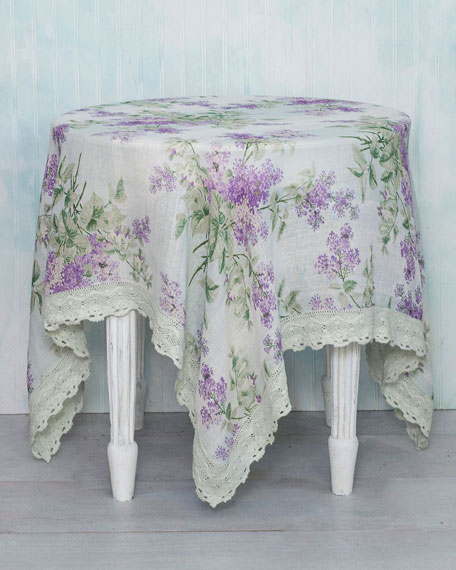 April Cornell Lilah Linen Breakfast Tablecloth