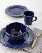 Neiman Marcus 16-Piece Cobalt Rope Dinnerware Set