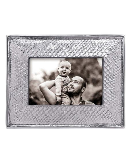 "Mariposa Snakeskin Aluminum Frame, 4"" x 6"""