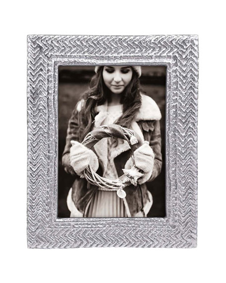 """Mariposa Cable Knit Frame, 5"""" x 7"""""""