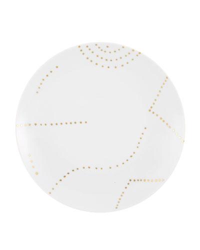 Folkifunki Gold Dots Dessert Plates, Set of 4