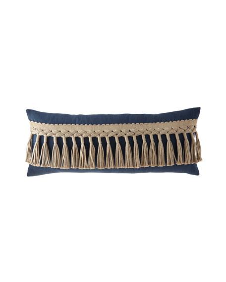 "TL at Home Tuscany Cleo Tassel-Trim Decorative Pillow, 15"" x 36"""