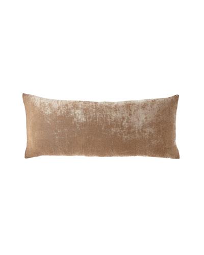 Silk-Blend Velvet Decorative Pillow, 15