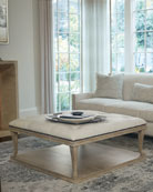 Bernhardt Rustic Patina Upholstered Coffee Table
