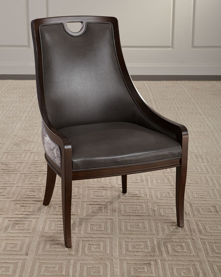 Massoud Donely Leather Dining Chair