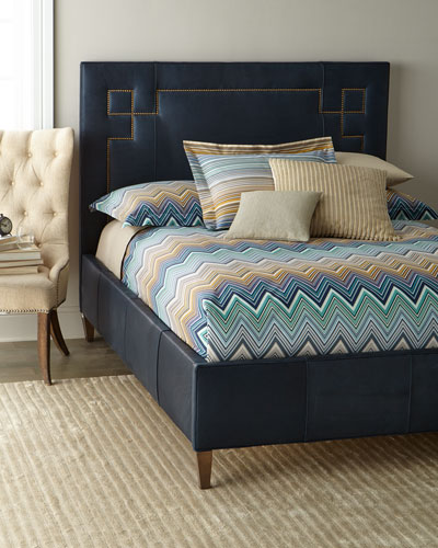 Christopher Leather Queen Bed