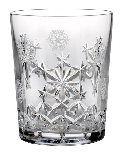 Snowflake Wishes Goodwill Double Old-Fashioned Glass