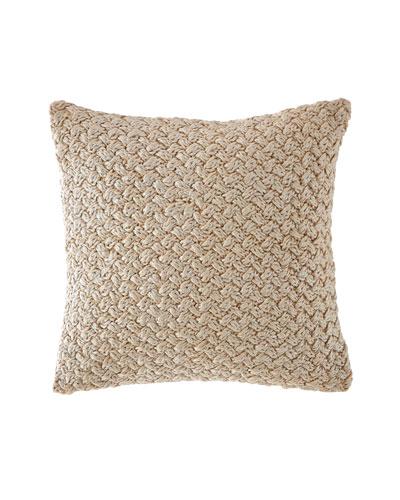 Metallic Knit Decorative Pillow