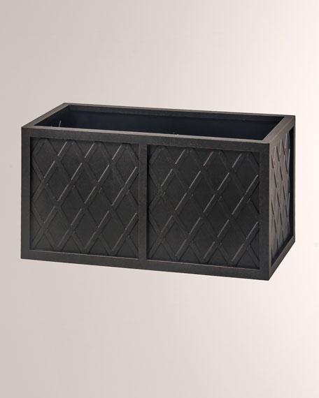 "Hanamint Lattice Outdoor 18"" X 36"" Rectangle Planter Box"