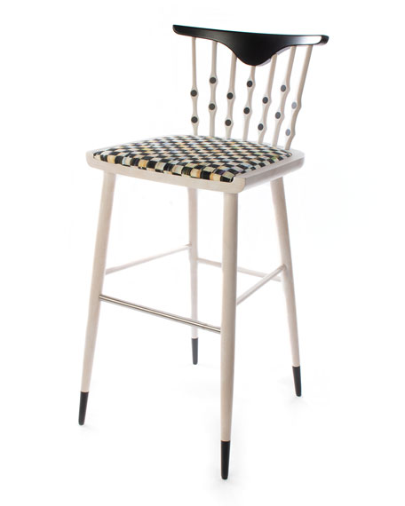 MacKenzie-Childs Musical Chairs Bar Stool
