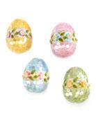 MacKenzie-Childs Garland Eggs, Set of 4