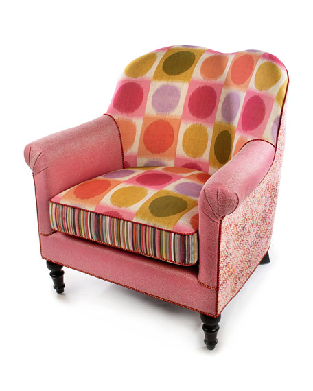 MacKenzie-Childs Super Pink Chair