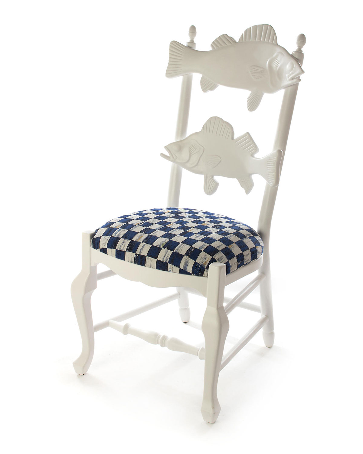 Mackenzie-Childs Furnitures OUTDOOR ROYAL CHECK FISH CHAIR
