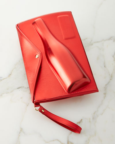Large Red Champagne Clutch