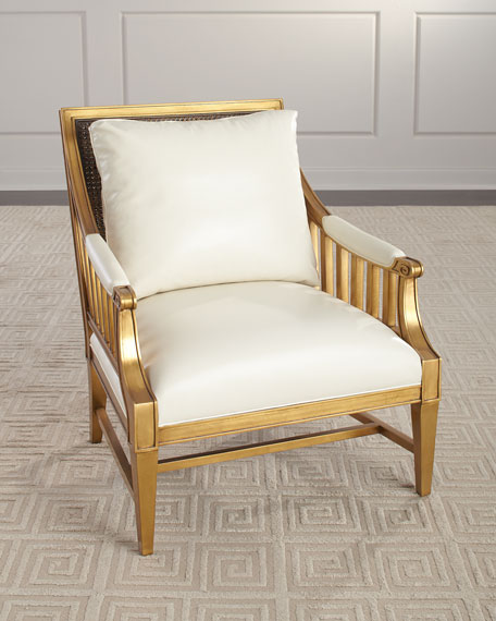 John-Richard Collection Newry Leather Arm Chair