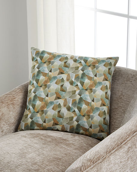 Designers Guild Geo Moderne Pewter Pillow