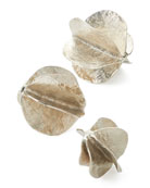 John-Richard Collection Silver Spheres, Set of 3