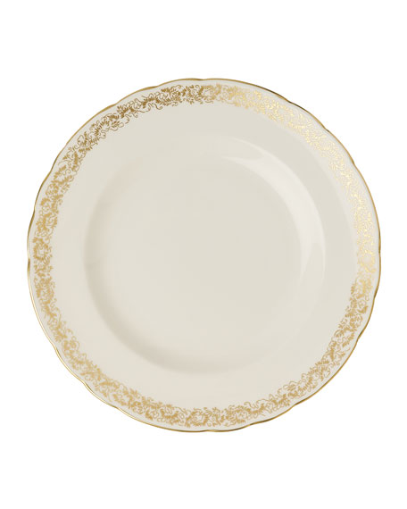 """Royal Crown Derby Aves Gold Narrow 8.6"""" Plate"""