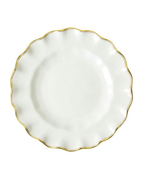 Royal Crown Derby Chelsea Duet Fluted Dessert Plate