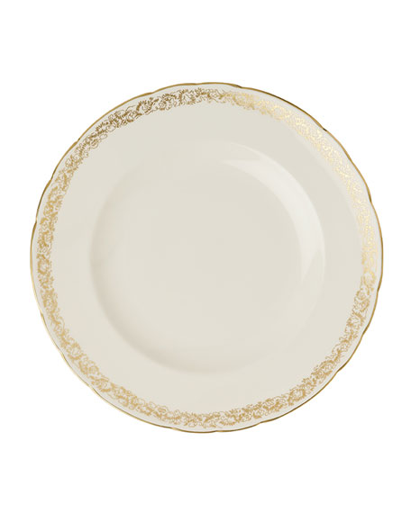 """Royal Crown Derby Aves Gold Narrow 10"""" Plate"""