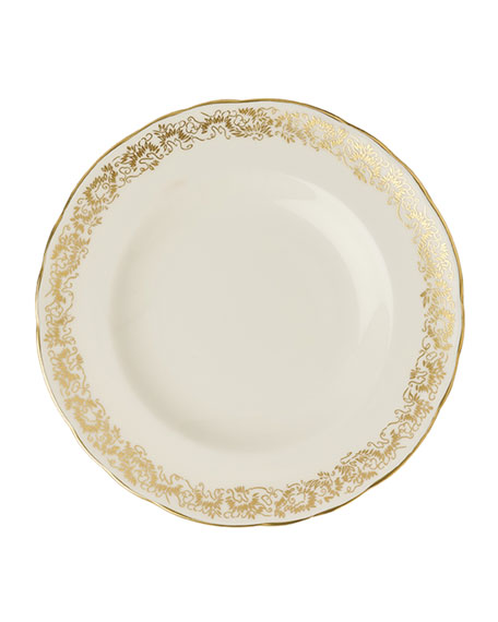 """Royal Crown Derby Aves Gold Narrow 6"""" Plate"""