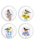 Bamboo Table Birds Plates Gift Set