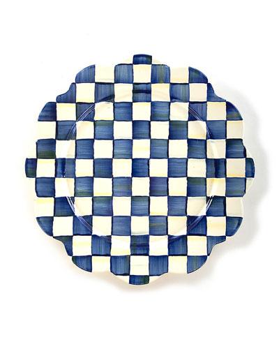 Royal Check Petal Platter