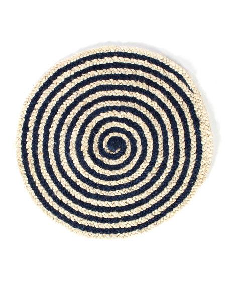 MacKenzie-Childs Spiral Swirl Jute Rug, 3'Dia.