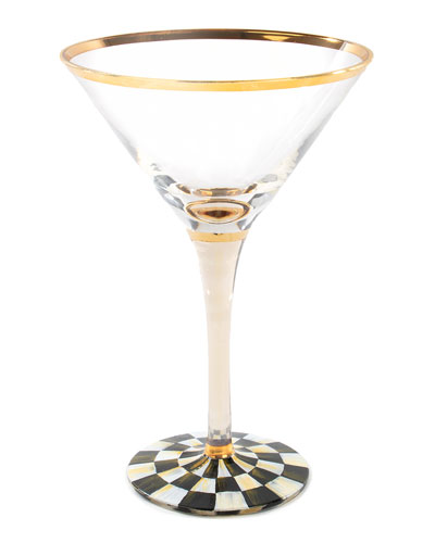 Courtly Check Martini Glass