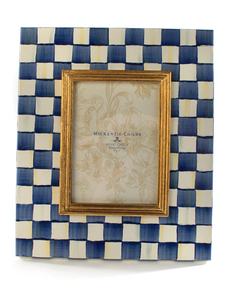 "MacKenzie-Childs Royal Check Frame, 5"" x 7"""