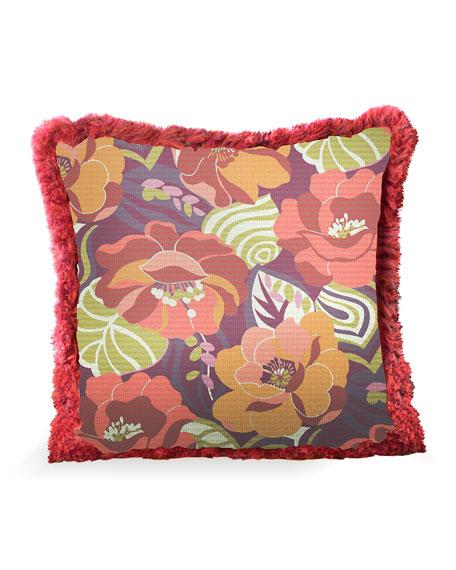 MacKenzie-Childs Breezy Poppy Outdoor Accent Pillow