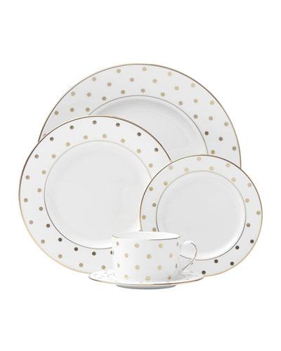 5-Piece Larabee Road Gold-Dot Dinnerware Place Setting