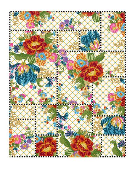 MacKenzie-Childs Flower Market Trellis Rug, 8' x 10'
