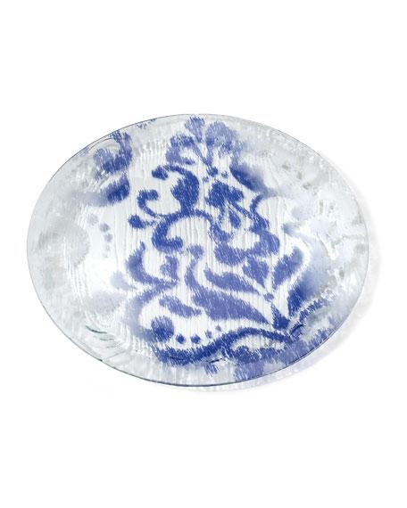 Annieglass Bali Blue Round Platter