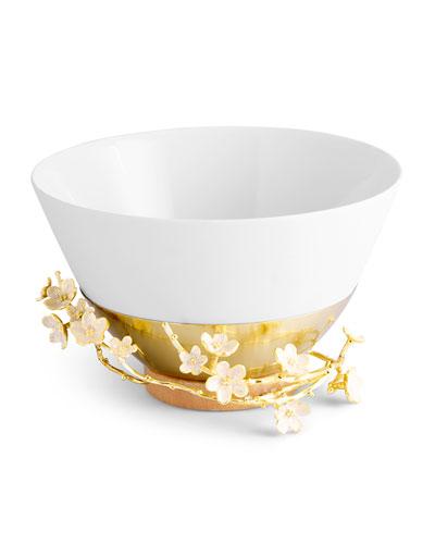 Cherry Blossom Porcelain Serving Bowl